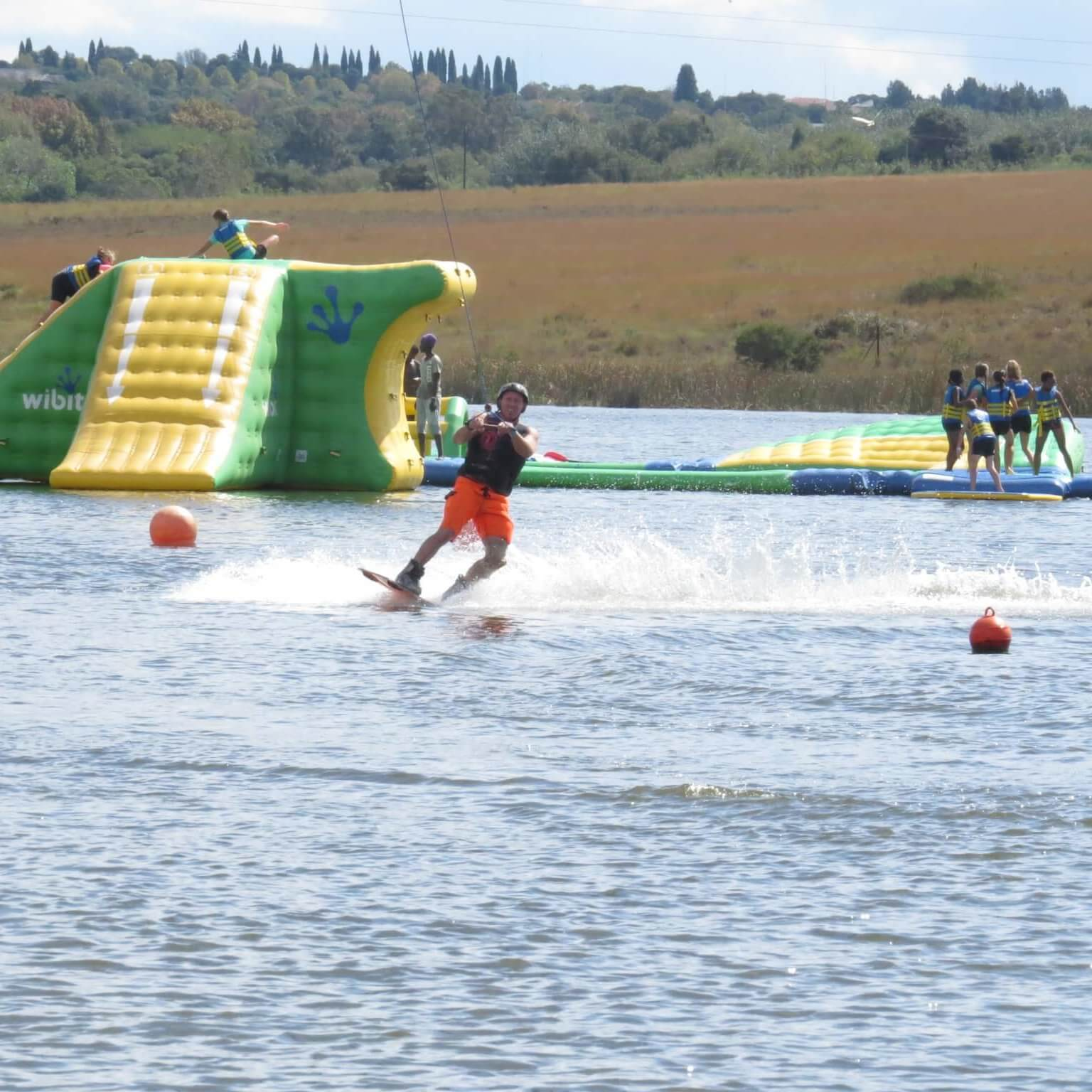 Kids Birthday Party Main Cable Child kneeboarding