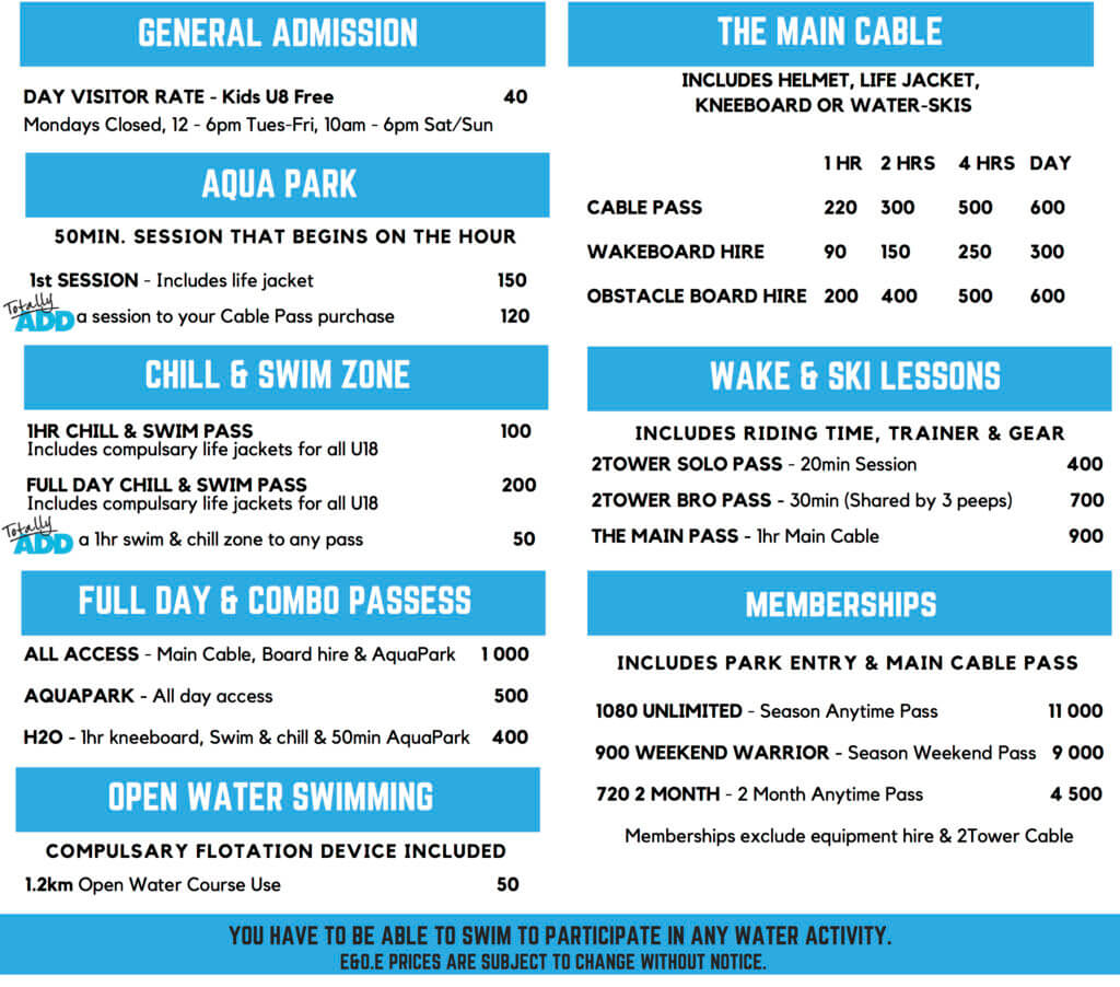 StokeCity AdventurePark Prices and Information
