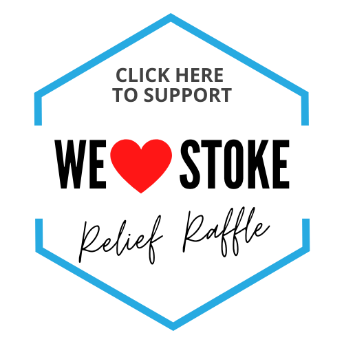 Support the We Love Stoke Relief Raffle Fund